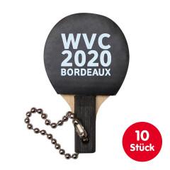 GEWO Set 10x Schlüsselanhänger Bordeaux