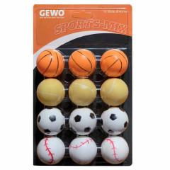 GEWO Ball Sports-Mix 12er bunt