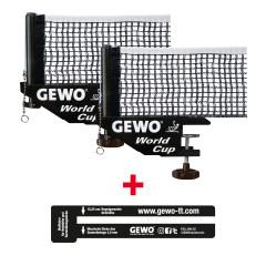 GEWO Set 2x Netz World Cup + 1x Netzlehre